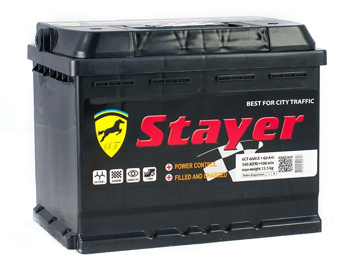 Stayer black a1 6ct-100ah r 800a (353x175x190) аккумулятор