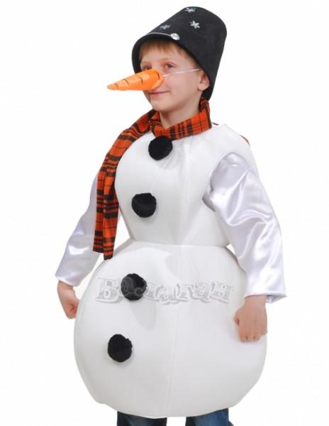 Как в домашних условиях сделать костюм снеговика