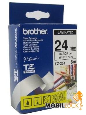 Brother Лента 24mm Laminated white, Print black (TZE251) MobilLuck.com.ua 379.000