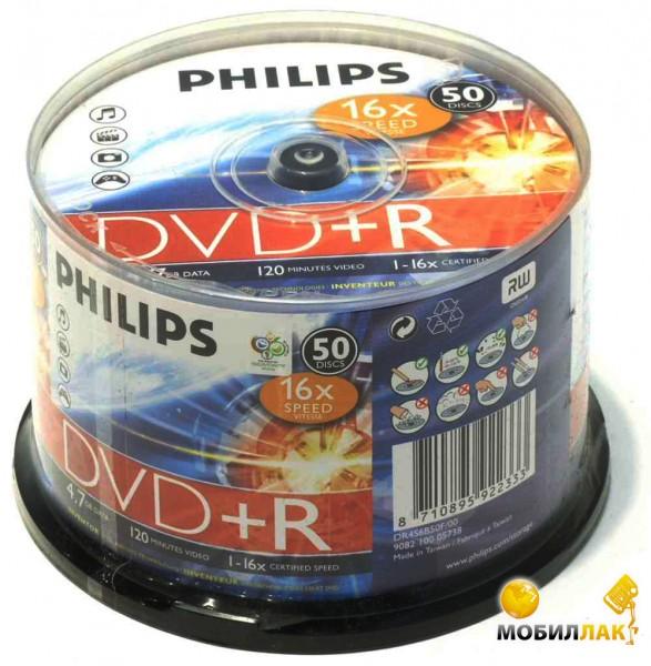 Philips DVD+R 4.7GB/16x Bulk 50 MobilLuck.com.ua 18.000