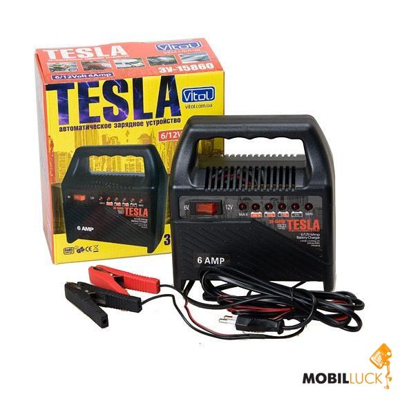 tesla зу-15860 - автоматическое зарядное устройство 6/12v емкость...