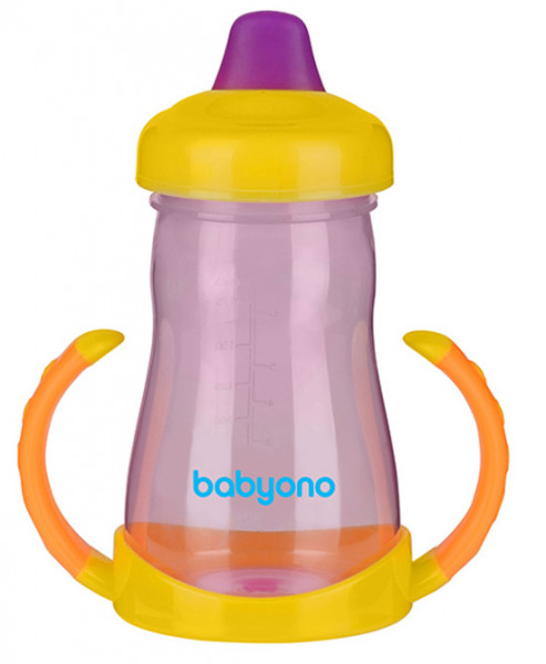 BabyOno Кружка-непроливайка Желто-розовый (208) BabyOno