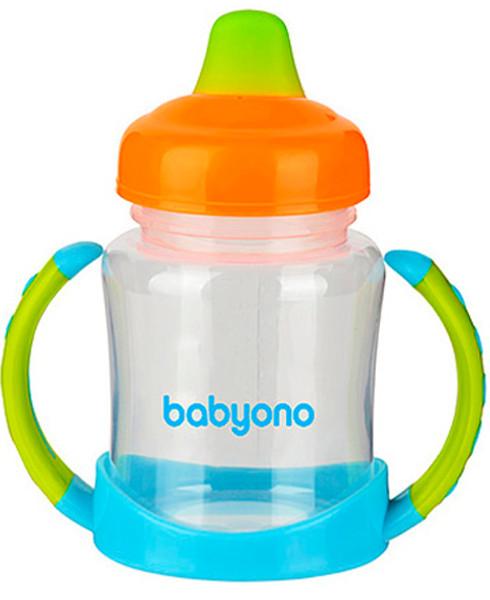 BabyOno Кружка-непроливайка Голубой/Оранжевый (206) BabyOno