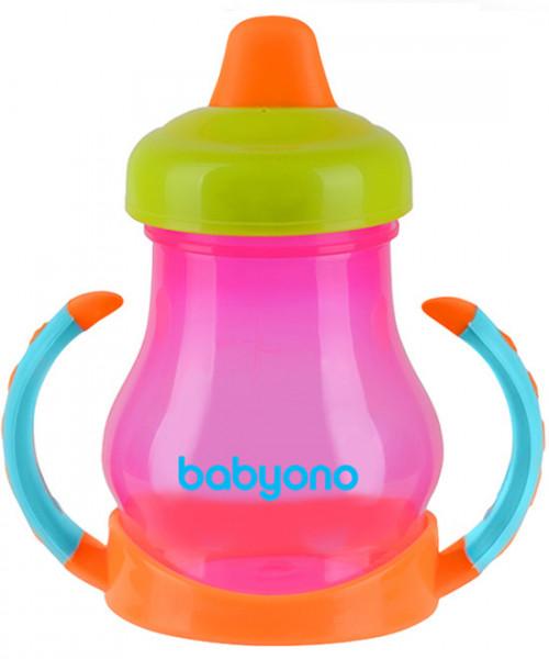 BabyOno Кружка-непроливайка Розовый (207) BabyOno