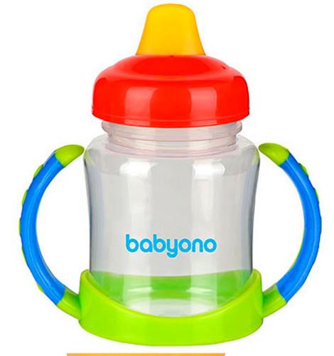 BabyOno Кружка-непроливайка Зеленый/Красный (206) BabyOno
