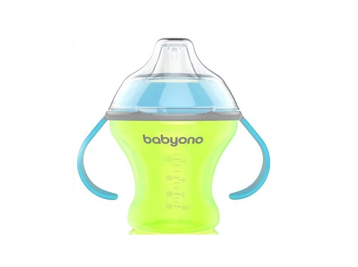 BabyOno Natural Nursing С мягким носиком Зеленая 180 мл (1456) BabyOno