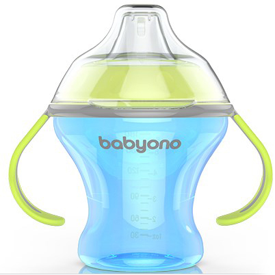 BabyOno Natural Nursing, 180 мл Голубая (1456) BabyOno