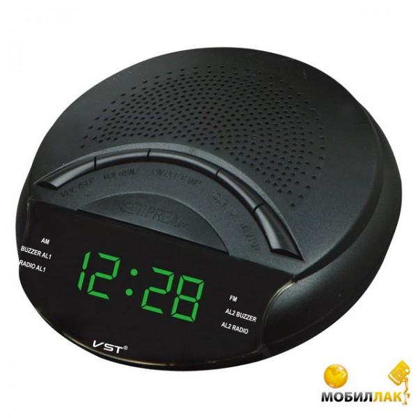 VST Часы сетевые 903-4 с радио салатовый (3505) VST