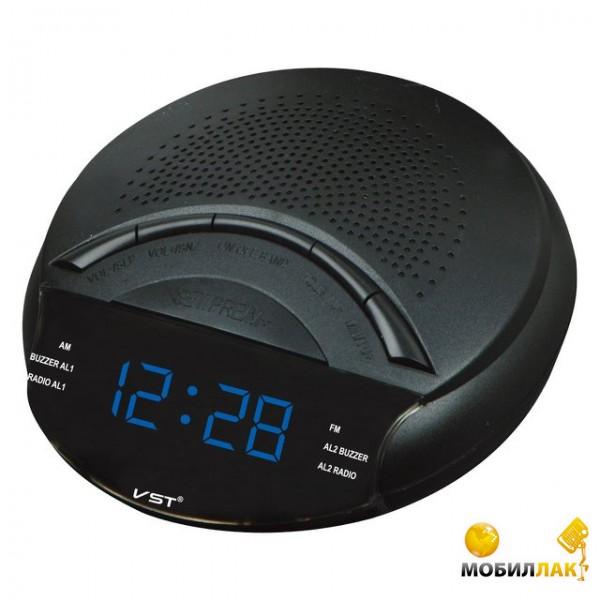 VST Часы сетевые 903-5 с радио синий (3506) VST