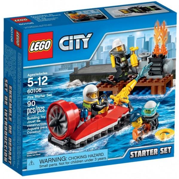 Конструктор Lego City Fire Набор для начинающих Пожарная охрана (60106)