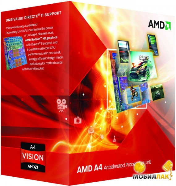 Процессор AMD A4-4000 3.0GHz 1MB (AD4000OKHLBOX) sFM2 BOX
