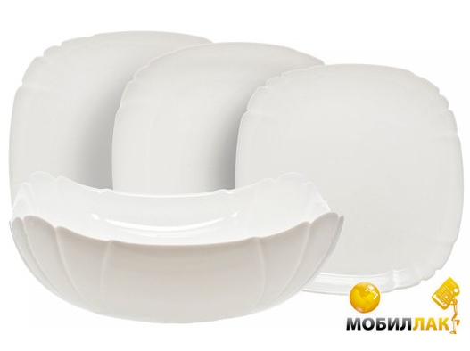 Luminarc Lotusia H1792 white (19 предметов) Luminarc