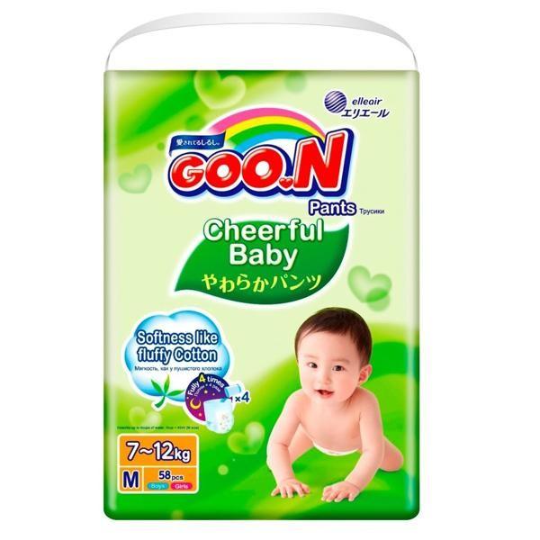 Goo.N Cheerful Baby M 58 шт (853144) Goo.N