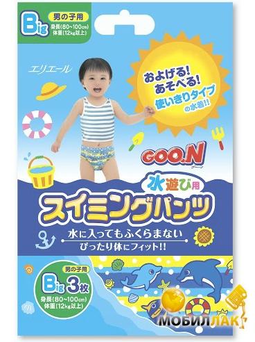 Goo.N для мальчиков от 12 кг, рост 80-100 см(размер Big (XL),3 шт) (753646) Goo.N