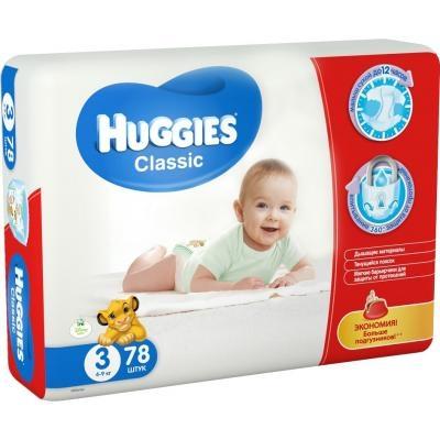 Подгузник Huggies Classic 3 Mega 78шт (5029053543116)