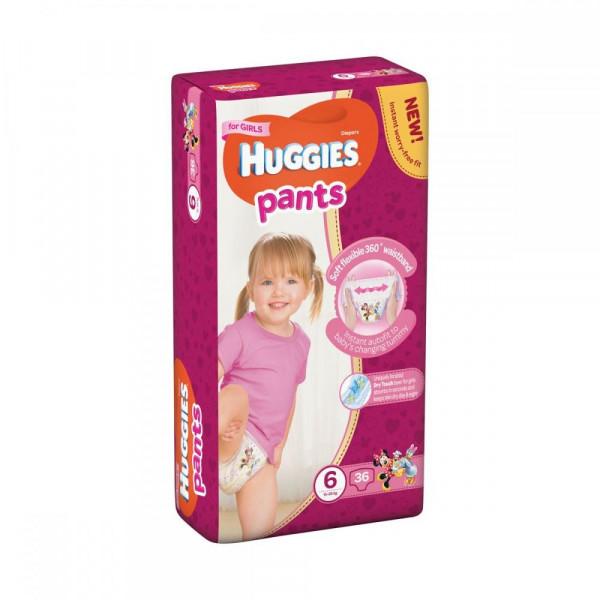 7917fa1cb72d Подгузник Huggies Pants 6 для девочек (15-25 кг) 36 шт (5029053564050