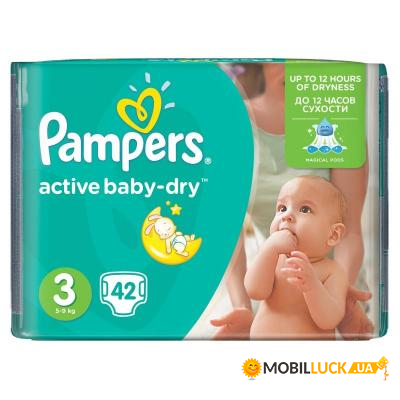 9e99026ccedf Подгузник Pampers Active Baby-Dry Midi 5-9 кг 42шт (4015400537427 ...