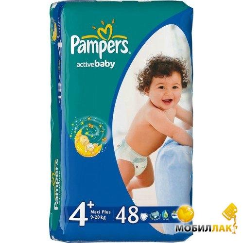 80d18d82edb8 Фотография Подгузники Pampers Active Baby Maxi Plus (9-16 кг) Эконом (48 ...
