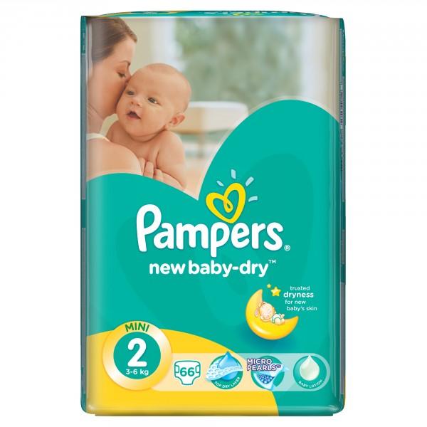 aa3d9087507e Фотография Детские Подгузники Pampers New Baby-Dry Mini 3-6кг Экономическая  Упаковка 66 ...