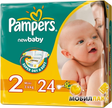 Видеообзор и фото Подгузники Pampers New Baby Mini 2 (3-6 кг) 24 шт ... 4b10447b482