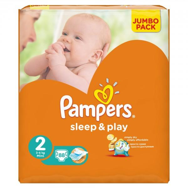 Фотография Подгузники Pampers Sleep Play Mini 2 (3-6 кг) JUMBO PACK 88 шт c0018af3234