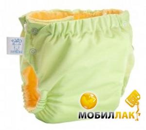 Эко-Пупс Многоразовые подгузники Непромокайка Premium XXL (15+ кг) + 1 вкладыш, с карманом Зеленый Эко-Пупс
