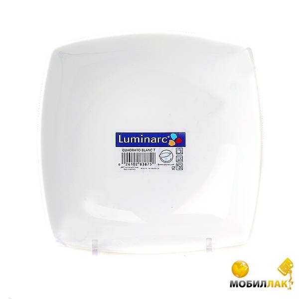 Luminarc Quadrato white H3658 190 мм десертная MobilLuck.com.ua 65.000