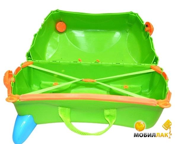 VeNergy Детский чемодан-каталка на колесах Зеленый Кот (4353) MobilLuck.com.ua 1518.000