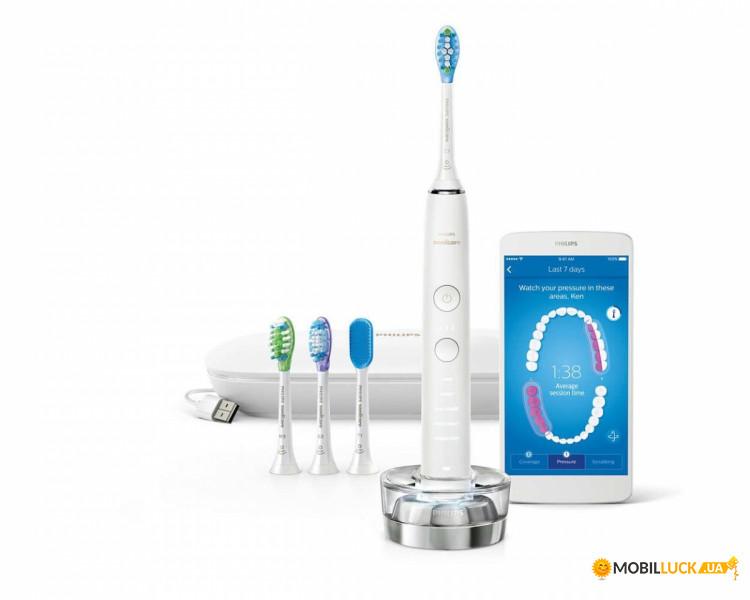 Электрическая зубная щетка philips healthywhite hx6711
