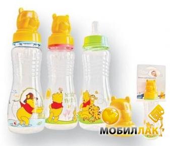 Lindo Бутылочка для кормления Pooh с силиконовой соской 250 мл, 1 шт. (Pk 088) MobilLuck.com.ua 49.000