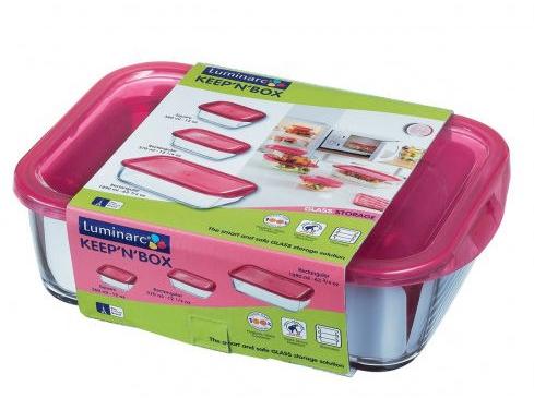 Набор пищевых контейнеров Luminarc KeepnBox J5104 Сиреневый (360мл, 370мл, 1890мл)