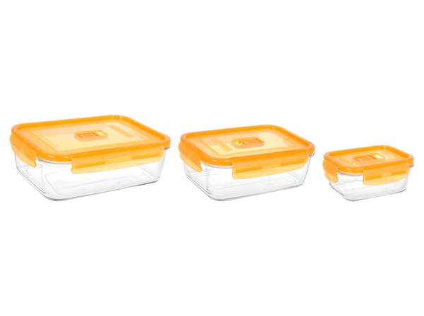 Luminarc Pure Box Active Neon/НАБОР/3 пр./прямоуг. Оранжевая крышка (N0338) Luminarc