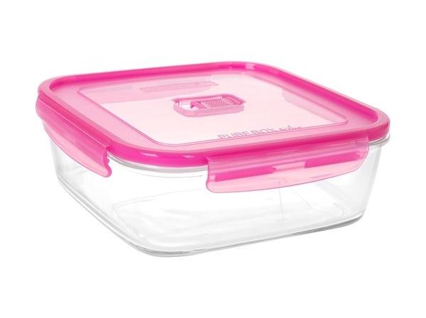 Luminarc Pure box active Neon Квадратный (N0942) Розовая крышка 2500 мл Luminarc