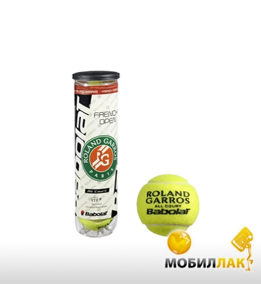 babolat Babolat Balls French Open All Court x 4