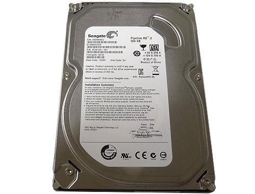 Жесткий диск Seagate Pipeline HD 500Gb 5900rpm 8Mb ST3500312CS 3.5 SATA II Refurbished
