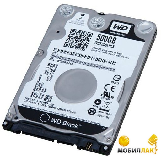 Western Digital 2.5 SATA 3.0 0.5TB 7200rpm 32Mb (WD5000LPLX) Western Digital