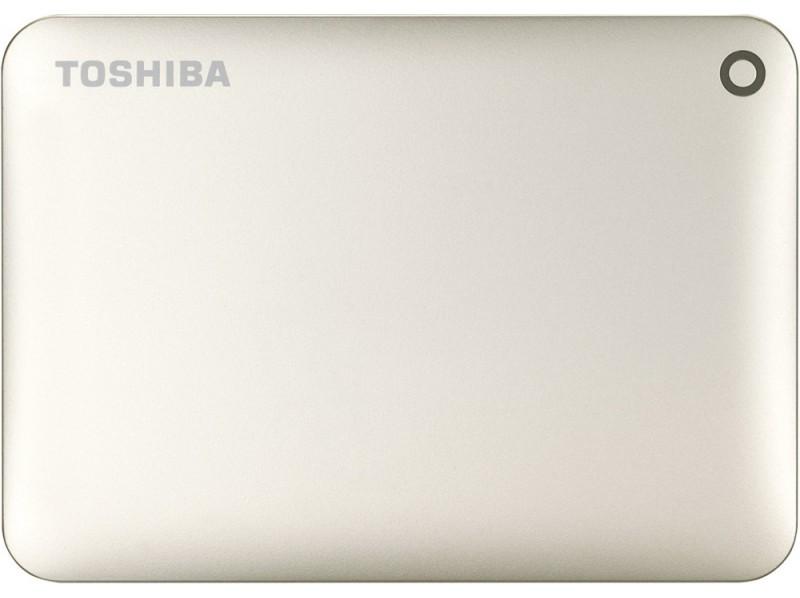 Внешний жесткий диск 500Gb Toshiba Canvio Connect II Satin gold (HDTC805EC3AA)