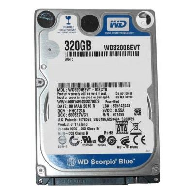 Western Digital Scorpio Blue 320GB 5400rpm 8MB WD3200BEVT 2.5 SATA II Refurbished Western Digital