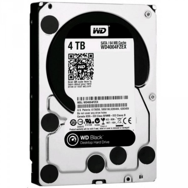 Western Digital Black 4TB 7200rpm 128MB WD4004FZWX 3.5 SATAIII Western Digital