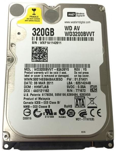 Western Digital SATA 320GB 5400rpm 8MB Refurbished (WD3200BVVT) Western Digital