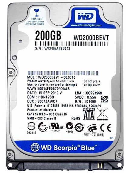 Western Digital WD2000BEVT Western Digital