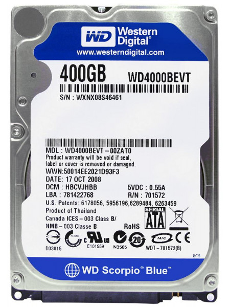 Western Digital WD4000BEVT Western Digital
