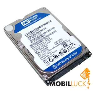 Western Digital Scorpio Blue 320GB 5400rpm 8MB WD3200BPVT 2.5 SATA II Refurbished Western Digital