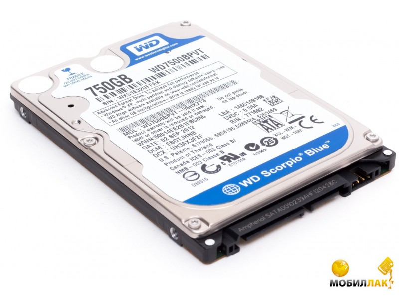 WD 2.5 SATA 3.0 750Gb 5400rpm 8Mb Cache Blue (WD7500BPVX) MobilLuck.com.ua 887.000