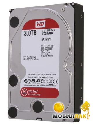 Western Digital 3TB 64MB 3.5 SATA 3.0 IntelliPower Red WD30EFRX Western Digital