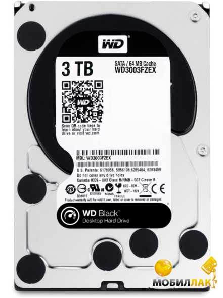 Western Digital 3.5 SATA 3.0 3TB 7200rpm 64Mb Cache Black (WD3003FZEX) Western Digital