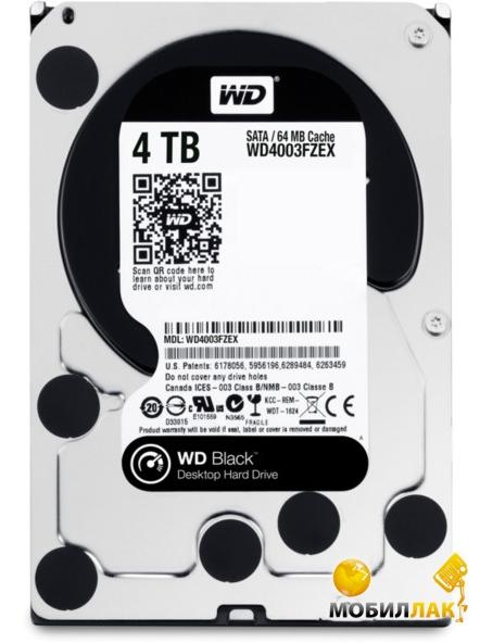WD 3.5 SATA 3.0 4TB 7200rpm 64Mb Cache Black (WD4003FZEX) MobilLuck.com.ua 3789.000