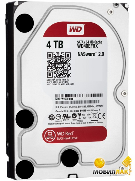 Western Digital 3.5 SATA 3.0 4TB IntelliPower 64MB Red (WD40EFRX) Western Digital
