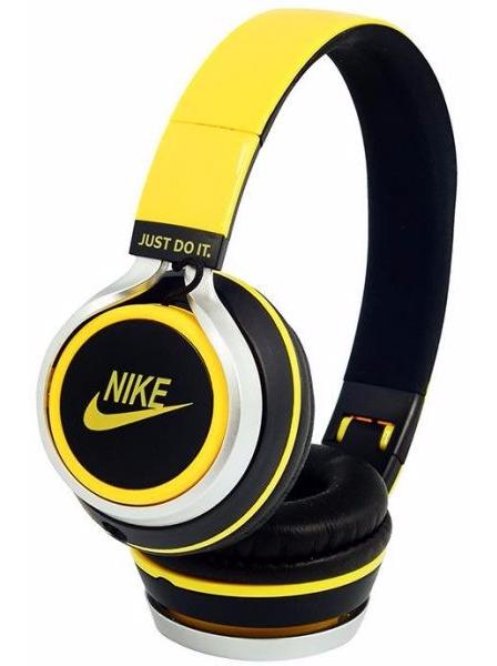 Наушники проводные Nike NK-198 желтые