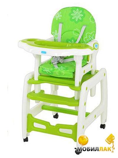 Bambi Стульчик-трансформер M 1563-5 Бело-зеленый Bambi